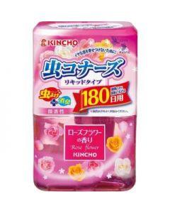 KINCHO 虫コナーズ リキッドタイプ 180日用 ローズフラワーの香り 400ml