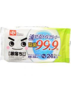 激落ちくん 流せるトイレクリーナー 24枚入り  除菌99.9%