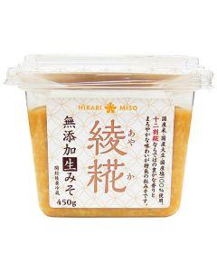 ひかり味噌 綾糀(あやか) 十二割糀 無添加生みそ450g