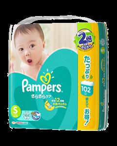 パンパース さらさらケア テープ S ウルトラジャンボ 102枚