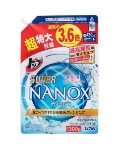 トップ  スーパーナノックス  1300g コンパクト洗剤  詰替用超特大