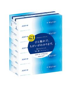 エリエール+Water ティッシュペーパー 180組 5箱入