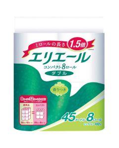 エリエール トイレットペーパー  1.5倍巻き 8R(12R分) ダブル 45m リラックス感のある香り