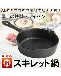 スキレット鍋 鉄フライパン IH200V対応 15cm