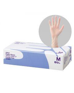 アスクル プラスチック手袋 M 粉なし 1箱(100枚入)