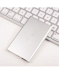 薄型モバイルバッテリー シルバー 8000mAh スマホ携帯充電器